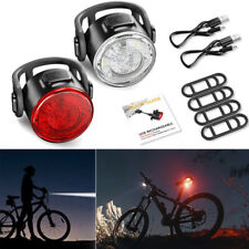 12LED USB Rechargeable Bike Lights Set Headlight Taillight Caution Bicycle Light