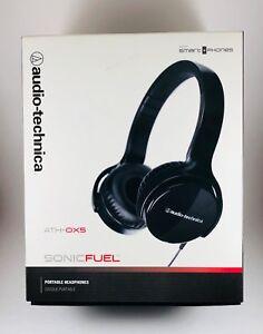 """NEW"" Audio Technica ATH-OX5 Sonic Fuel Black Headphones New In Box"