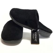 Vionic Gemma Women 11 42 Orthaheel Mule Slippers House Shoes Black NEW