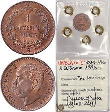 1 CENTESIMO 1895 UMBERTO I ITALIA ITALY Fdc Unc #P53
