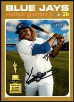 Vladimir Guerrero Jr. 2020 Topps Heritage 5x7 Gold #414 /10 Blue Jays