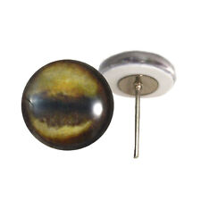 Pair of 12mm Antelope Glass Eyes on Wire Pin Posts for Felt Doll Making
