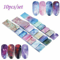 10 Nail Foils Transfer Paper Stickers Decals Holographic Flower Nail Art Starry