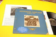 Jefferson Airplane 2lp Flight Orig UK 1977 NM Gatefold Textured, Insert, Book
