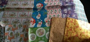 True Vintage XMAS WRAPPING PAPER x 10 Different Sheets
