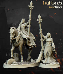 Damsel of the Lady, Highlands Miniatures, Bretonnian proxy, Aos, 9th Age