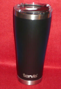 Tervis 30oz. Stainless Steel Black Powder Tumbler 8hr Hot 24hr Cold