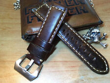 Details about  Handmade 24mm Thick Cowhide Vegetable Tanned Leather Watch Strap