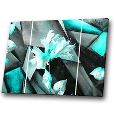 Black Blue White Geometric Abstract Canvas Wall Art Large Picture Prints