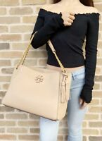 Tory Burch McGraw Slouchy Chain Shoulder Slouchy Tote Devon Sand