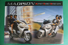 MALAGUTI SCOOTER MADISON S 250 R 180 T 150 125 DEPLIANT BROCHURE