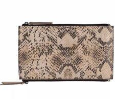 Lodis Women's  Kate Lani Double Zip Leather Pouch BNWT - Ivory Exotic Python