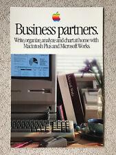 "1980-ies Apple Computer STURDY poster ""Business Partners"" Macintosh - very rare"