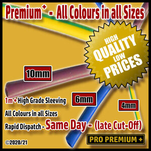 Electrical PVC Cable Sleeving/Tubing 4mm / 6mm / 10mm Modern Colours Lengths 1M+