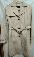 Colebrook Trench Coat Size S/P  Khaki Tan Classic Belted Jacket