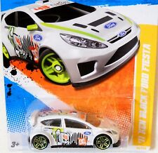 2011 Hot Wheels NEW MODELS #40 * '11 KEN BLOCK FORD FIESTA * WHITE RALLY