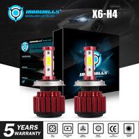H4 9003 19200LM LED Headlight Kit Light Bulb Hi-Lo Beam White 6000K vs HID XENON