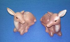 TWO RARE VINTAGE CERAMIC FAWN DEER FIGURINES EXCELLENT CONDITION FREE SHIPPING
