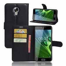 Custodia FLIP cover eco pelle NERA per Acer Liquid Z6 Plus stand+tasche BOOKLET