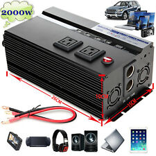 Car Boat ATV Power Inverter 2000/4000W Peak DC 12V to AC 110V Modifide Wave 4USB