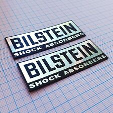 Bilstein (two emblems) - Metallic - Aluminum Badge Stickers: 70 mm x 25 mm