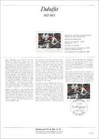 Timbre 1er jour sur document philatélique -  DUBUFFET -  LE HAVRE - 1985