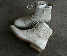 Mustang Damen Stiefeletten Boots Sommer Gr.42 NP 49,95 €  hell beige grau