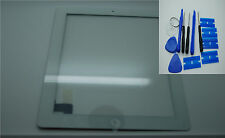Brand NEW IPAD 2 DIGITIZER, touch screen, Vetro Frontale Bianco,3 M ADESIVI
