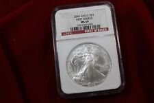 2006  AMERICAN SILVER EAGLE, NGC MS 69, FIRST STRIKES LABEL,