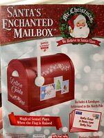 Mr. Christmas Santa's Enchanted Mailbox Decoration Makes Sounds Envelopes New