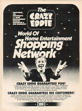 The Crazy Eddie World Of Home Entertainment Shopping Network 1986 Ad
