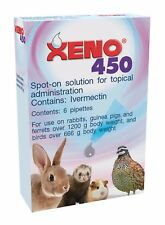 XENO 450 Spot On Tubes 6 Pack for Rabbits, Ferrets & Guinea Pigs - BEST PRICE!!