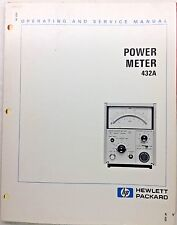 HP 432A Power Meter Operating & Service Manual P/N 00432-90009