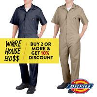 DICKIES 33999 MENS SHORT SLEEVE COVERALL FORMAL MECHANIC WORK UNIFORM JUMPSUIT