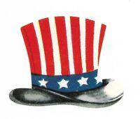 Vintage Die Cut Patriotic Image of Uncle Sam's Hat