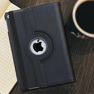 Apple iPad Case Leather 360 Rotating Shockproof Stand Cover [For ALL MODELS]