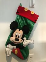 Disney Parks Authentic: Mickey Mouse Plush Christmas Holiday Stocking— RARE