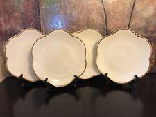 4 Pottery Barn ESTE CE ITALY SCALLOPED Large dinner PLATE PLATTER 22k GOLD Trim