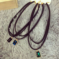 Fashion Trend Clavicular Chain Double layer Black Velvet Choker Necklace 1pcs