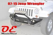 Jeep JK Wrangler Rock Crawler Front Bumper w/ LED Lights +DRings +Winch Plate 07