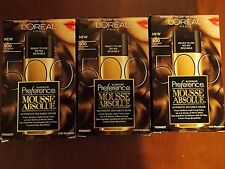 3 BOXES  L'Oreal Superior Preference Mousse Absolue 654 LIGHT AUBURN     BROWN