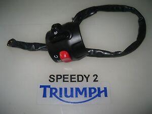 TRIUMPH THRUXTON BONNEVILLE AMERICA SPEEDMASTER SWITCH SET LIGHTS ON RH T2026029