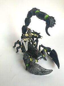SCHLEICH Großer schwarz grüner Skorpion mit Reiter Skorpionreiter Scorpion 70124