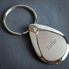 Julie Keychain Keyring Personalized Name Mulberry Studios NEW