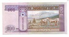 Mongolia  100  tugrik  2000       FDS UNC     Pick 65     Lotto 3814