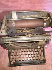 Antique Vintage Underwood Type Writer MODEL NO 5 Portable Display 1930s 1920s