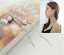 Cute Pearl Threader Earrings Dangle Drop Earrings For Girls Women,Best Gift