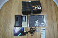 Olympus Pearlcorder L200 Microcassette Recorder Voice Dictation TESTED spr