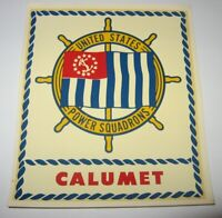 Vintage Water Decal UNITED StatesPower Squadrons CALUMET Allied OH Free Shipping