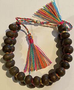 Rainbow Adjustable Beaded Bracelet ❤️🧡💛💚💙💜 Chuckin Rainbowz 2cm Wide 🌟